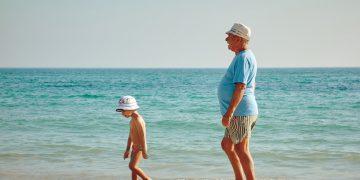 סבא ונכד בחופשה, צילום: Vidar Nordli-Mathisen