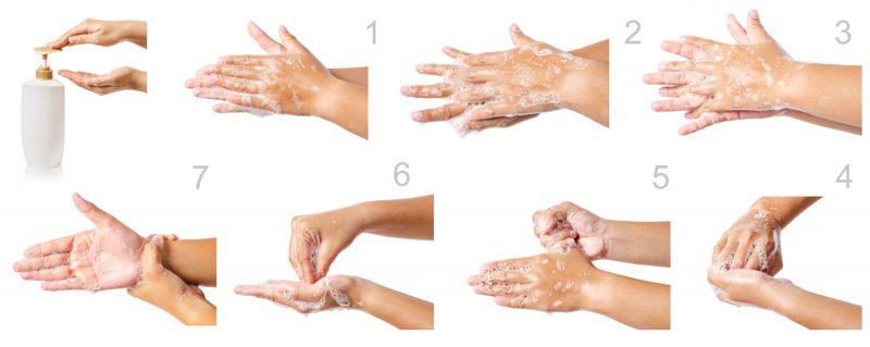 מדריך מצולם לשטיפת ידיים